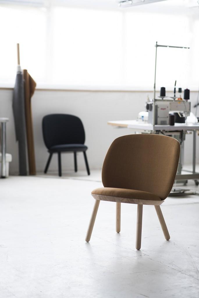 Baldai ir šviestuvai. Naive Low Chair. etc.etc studio.