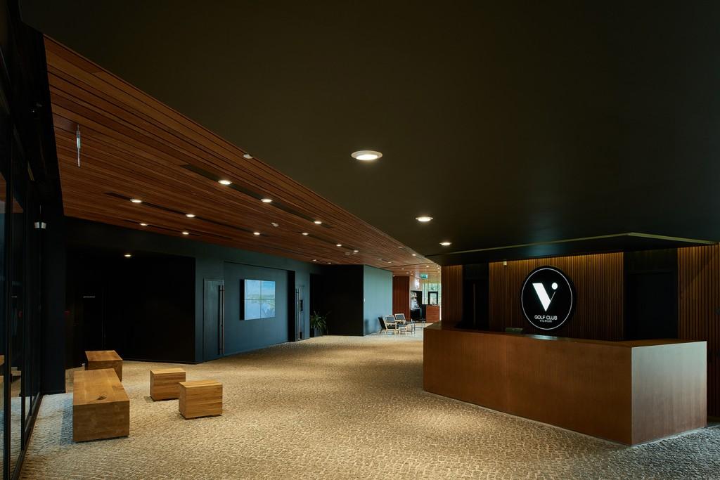 Interjeras. The V Golf Club.